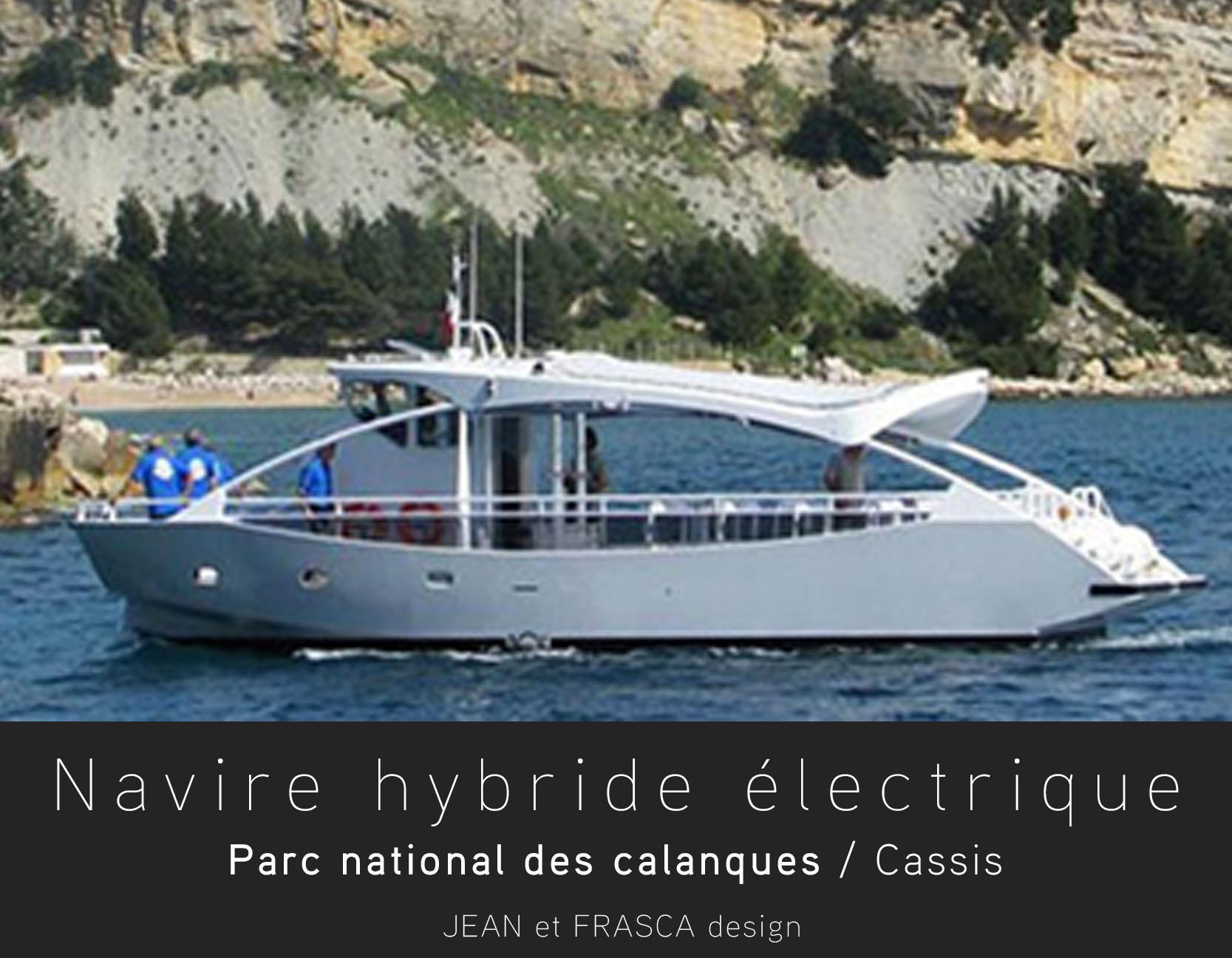 Hybrid propulsion boat Cassis
